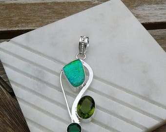 Peridot with Green Opal Pendant