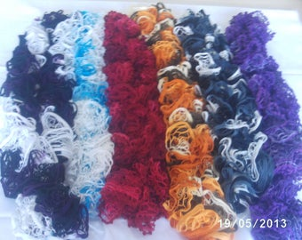 scarf ruffled fancy has three color