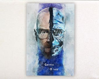 Walter White - Watercolor prints, Breaking bad posters, Breaking bad prints, series wall art, wall decor | Tropparoba - 100% made in Italy