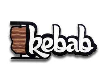 Kebab - Kebab sign, Shop sign, Wall signs, Food signs, Wooden signs, Signs kitchen, Kebab restaurant decor | Tropparoba - 100% made in Italy