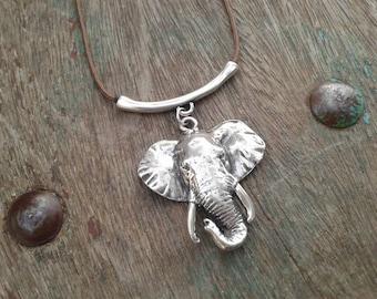 Elephant necklace -  vegan