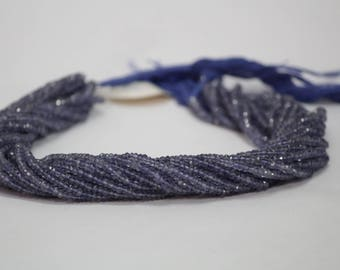 30cts 100% Natural Iolite Faceted Rondelle Beads 3-3.5 or 3.5-4mm | Iolite faceted |  Iolite Rondelle |  Iolite Beads