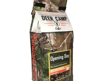 DEER CAMP COFFEE  Opening Day 12 Oz Medium Ground
