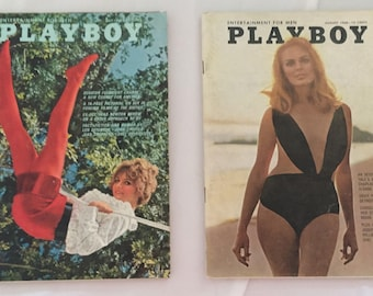 July and August of 1968 issues of Playboy Magazine