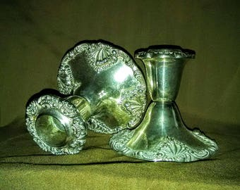 Vintage Godinger Silver plate candle holders