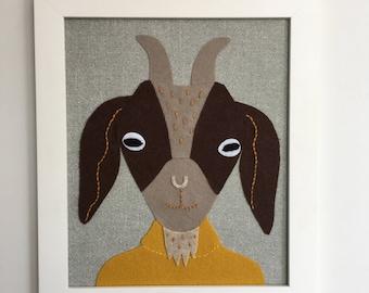 Harold Goat textile art