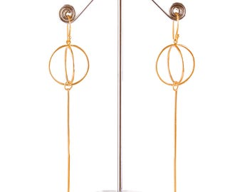 Brass earring (gold plated)