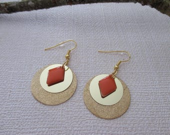 Gold sequin earrings