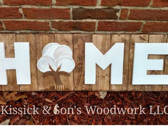 Cotton Home Sign