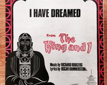 "Vintage sheet music - ""I have dreamed"" from The King and I"