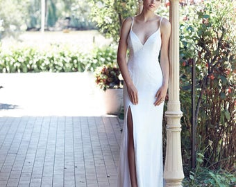 Lace bohemian wedding dress - The Esperance.