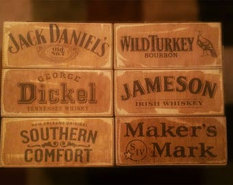 Whisky/beer crate. SET OF 6