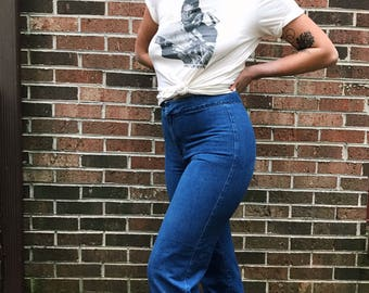 70's High Waisted Dark Wash Jeans