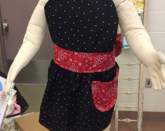 Dot bandana toddler apron (fits ages 2-5 years)