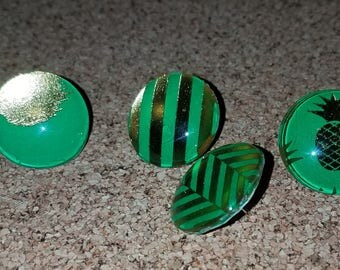 Colorful Push Pins set of 4