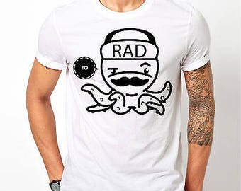 Mens Octopus Rad - White T-shirt