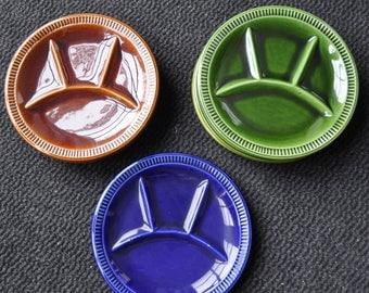 8 earthenware fondue plates JACOB Holland