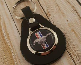 Black Mustang Keyring