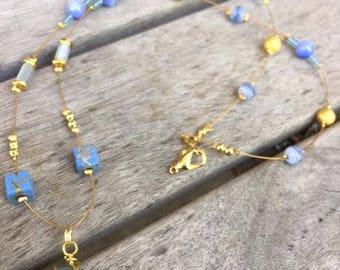 Sea Dreams Blue Sea Glass Necklace