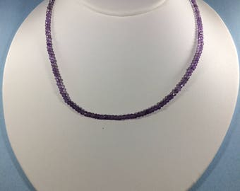 SALE 30% - Amethyst Necklace, Amethyst Gemstone Necklace, Therapeutic Necklace, Healing Necklace, February Birthstone Necklace