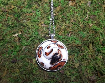 Pied Ball Python snake medallion- made to order