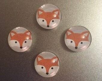 Fox magnets, set of 4