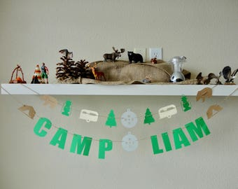 Personalized Camping Garland