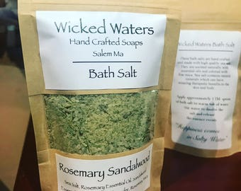 Rosemary Sandalwood Bath Salts