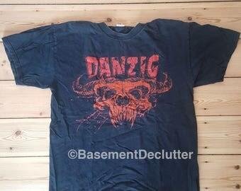 Danzig - demi skull Angry Blue design - t-shirt L