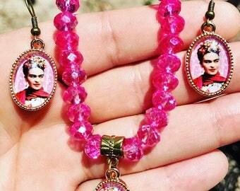 Frida bracelet & earring set