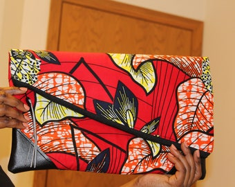 African fabric evening bag, every occasion bag, clutch, purse