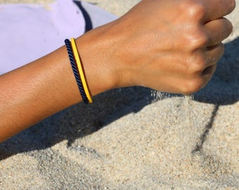 Bracelet Collection Navy Blue and yellow