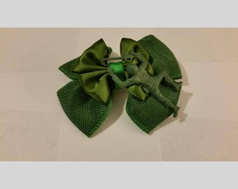 Green Army Man Hair Bow