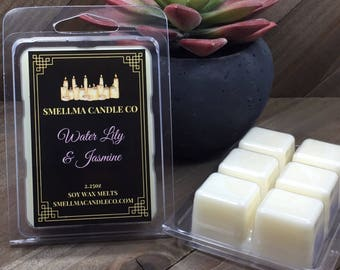 Water Lily and Jasmine Soy Wax Melts, Wax Melts, Soy Wax Melts, Soy Wax Tart, Soy Candle Melts, Wax Warmer, Scented Soy Tart