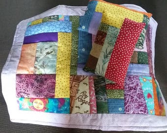 DOLL QUILT with 2 pillows