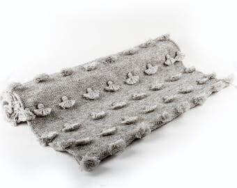 Gray Pompom Rug