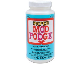 Plaid Mod Podge - Paper Matte 16oz. (472ml) - Decopatch Decoupage, glue sealer varnish all in one.
