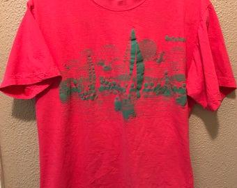 Vintage 80's Bahamas pink t-shirt