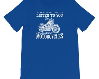 Talk About Motorcycles Short-Sleeve Mens T-Shirt