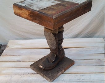 Steam Punk Boot End Table