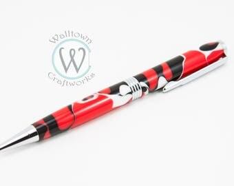 Red, Black and White Trimline Twist