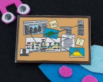 Huge Conspiracy Yarn Board Hard Enamel Pin