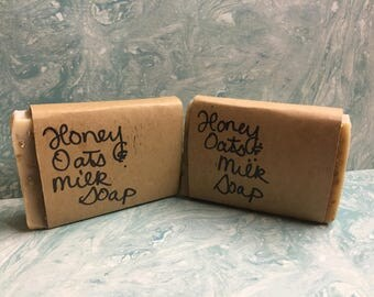 Organic Milk Oats and Honey Soap