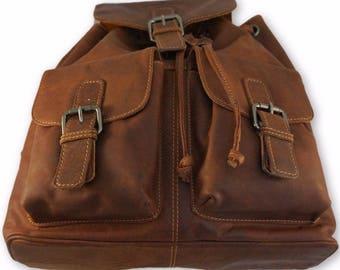 NEW 100% Genuine leather Backpack shoulder travel bag AU