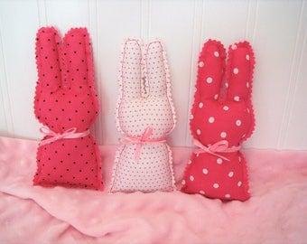 Baby Nursery Bunnies, Set of Three, Baby Nursery Decor, Baby Gift