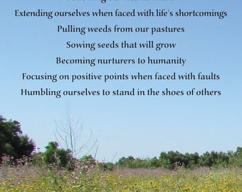 "Inspirational Poetry Greeting Card — ""Let Our Actions"" — FREE SHIPPING"