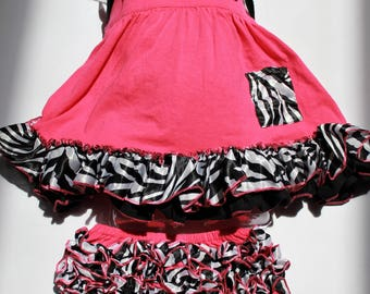 Pink Zebra Swing Top