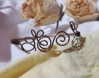 Rustic Swirl Wire Cuff Bracelet