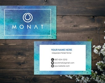 PERSONALIZED Monat Business Card, Custom Monat Business Card, Fast Free Personalization, Custom Monat Hair Care Card MN06
