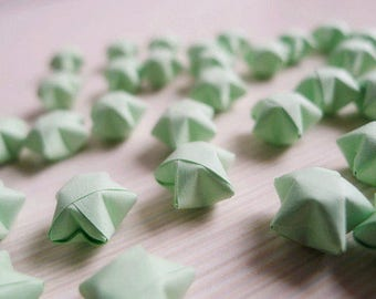 Origami Lucky Stars - Light Green Wishing Stars,Table Decor,Gift Enclosure,Party Supply,Embellishment